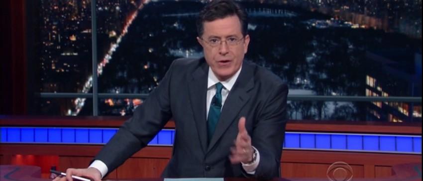 WATCH Colbert's Surprisingly Reverent Tribute To Antonin Scalia (screenshot: CBS)