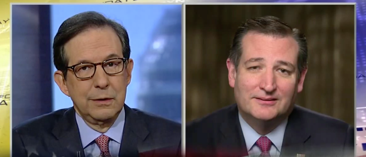 Cruz Accuses Chris Wallace Of Using Trump Oppo Research File, Sparks Fly (Screen shot Fox)