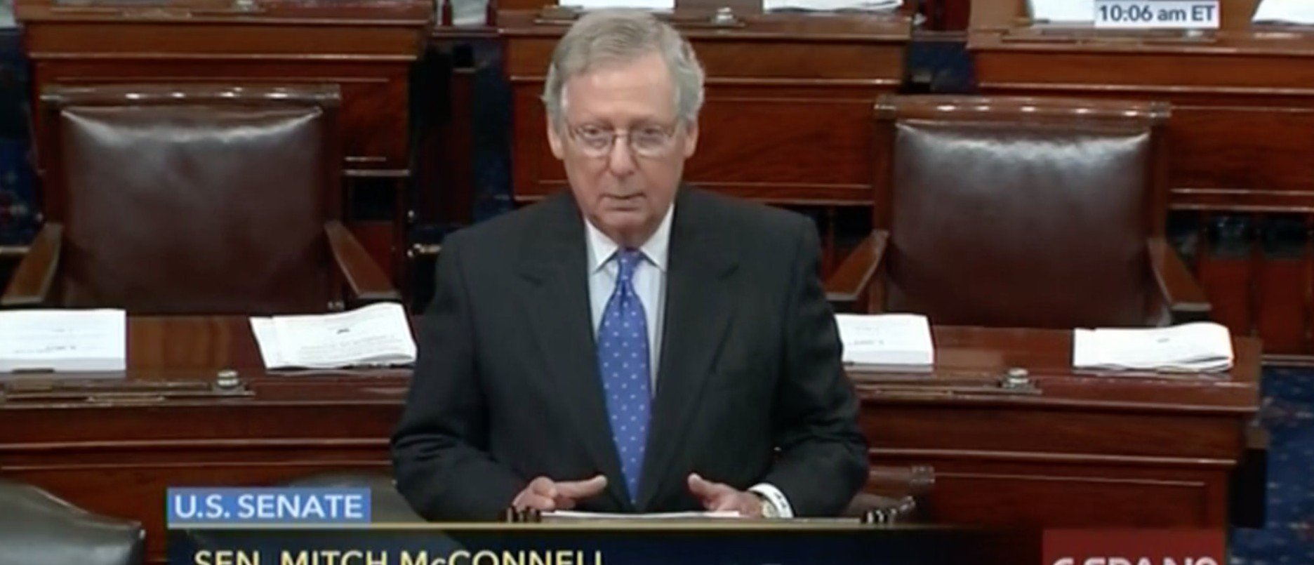 Sen. Mitch McConnell, Screen shot C-SPAN 2 2:23:2016