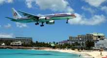 Princess Juliana International Airport, St. Maarten: Planes landing at this airport seem to come within feet of a public beach, making this a popular tourist attraction for beach-goers. (Photo: ToddonFlickr/Flickr)