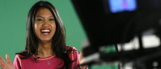 SLUG: ST/MALKIN DATE: January, 25, 2007 CREDIT: Linda Davidson / TWP. BALTIMORE, DC. Michelle Malkin, conservative author and Fox News commentator who also does an internet news program on her website, Hot Air. Pictured: Michelle Malkin tapes her show in the home basement of Hot Air V.P. Bryan Preston.  (Photo by Linda Davidson/The Washington Post/Getty Images)