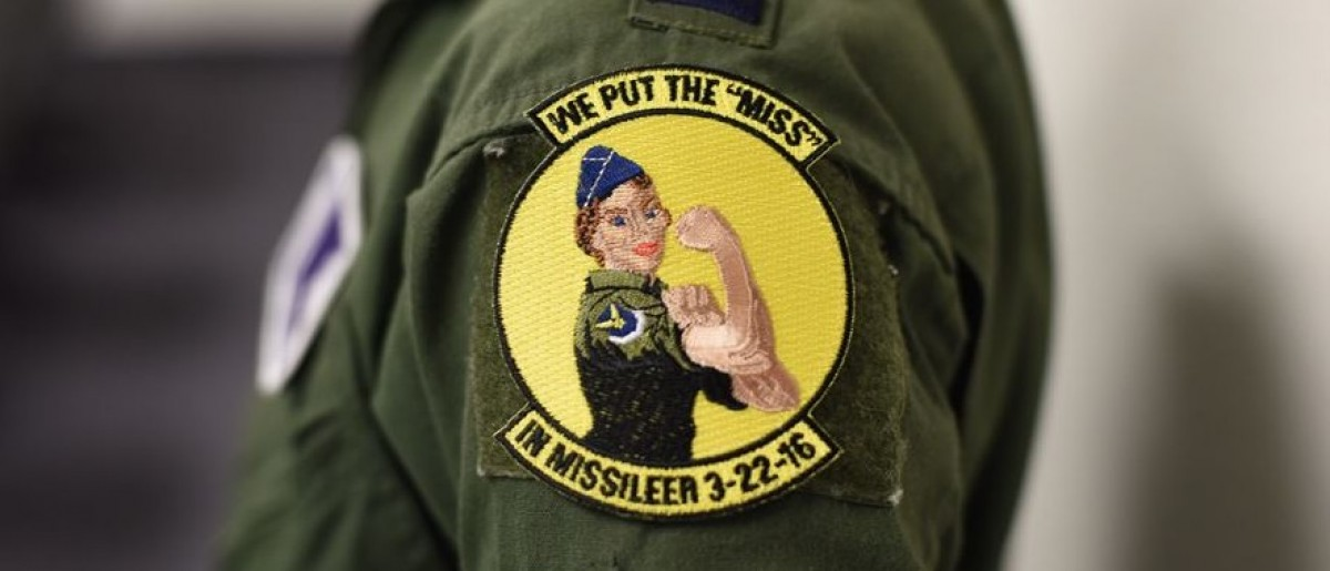 The patch female missileers are wearing as the Air Force mans the missile fields with all-female crews Tuesday. (Air Force photo/Airman Collin Schmidt)