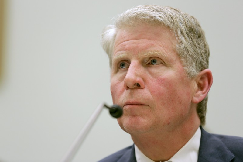 "Manhattan District Attorney Cyrus R. Vance, Jr. testifies to the House Judiciary hearing on ""The Encryption Tightrope: Balancing Americans' Security and Privacy"" on Capitol Hill in Washington March 1, 2016. REUTERS/Joshua Roberts"