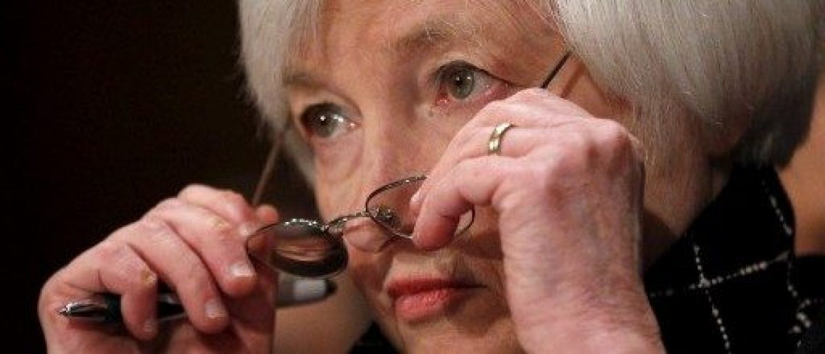 "Federal Reserve Board Chair Janet Yellen testifies before a Senate Banking, Housing and Urban Affairs Committee hearing on the ""Semiannual Monetary Policy Report to Congress"" in Capitol Hill, Washington"