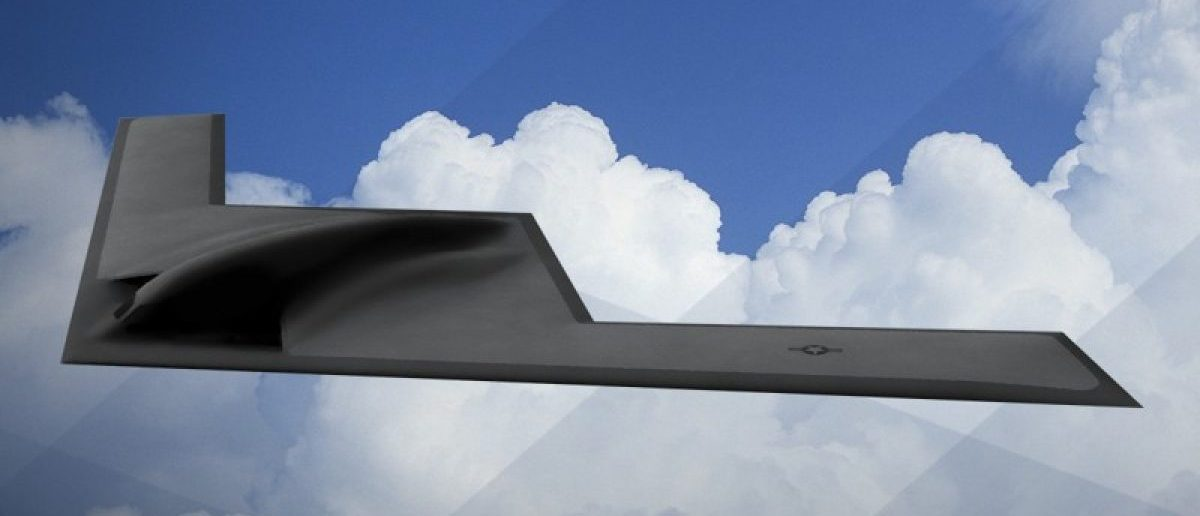 An artist rendering shows the first image of a new Northrop Grumman Corp long-range bomber B21 in this image released on February 26, 2016.  REUTERS/U.S. Air Force/Handout via Reuters