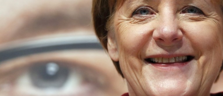 Merkel German Chancellor and leader of CDU party arrives for election campaign rally in Haigerloch