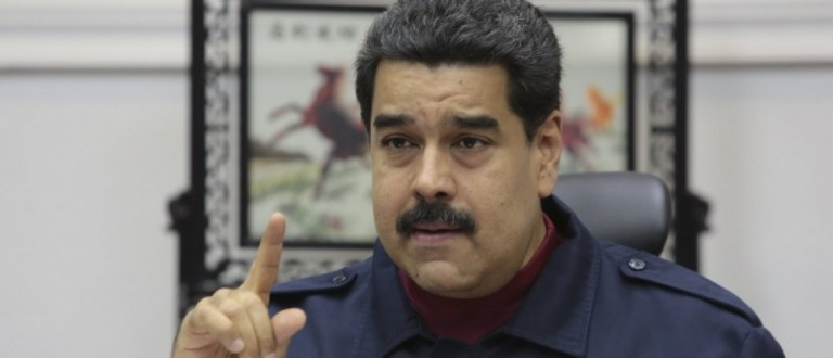 Venezuela's President Nicolas Maduro speaks during a meeting with ministers in Caracas, in this handout picture provided by Miraflores Palace on March 23, 2016.