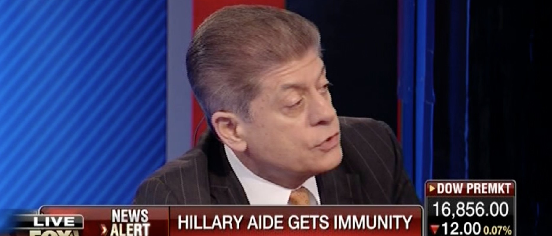 Andrew Napolitano, Screen Shot Fox Business Network, 3-3-2016