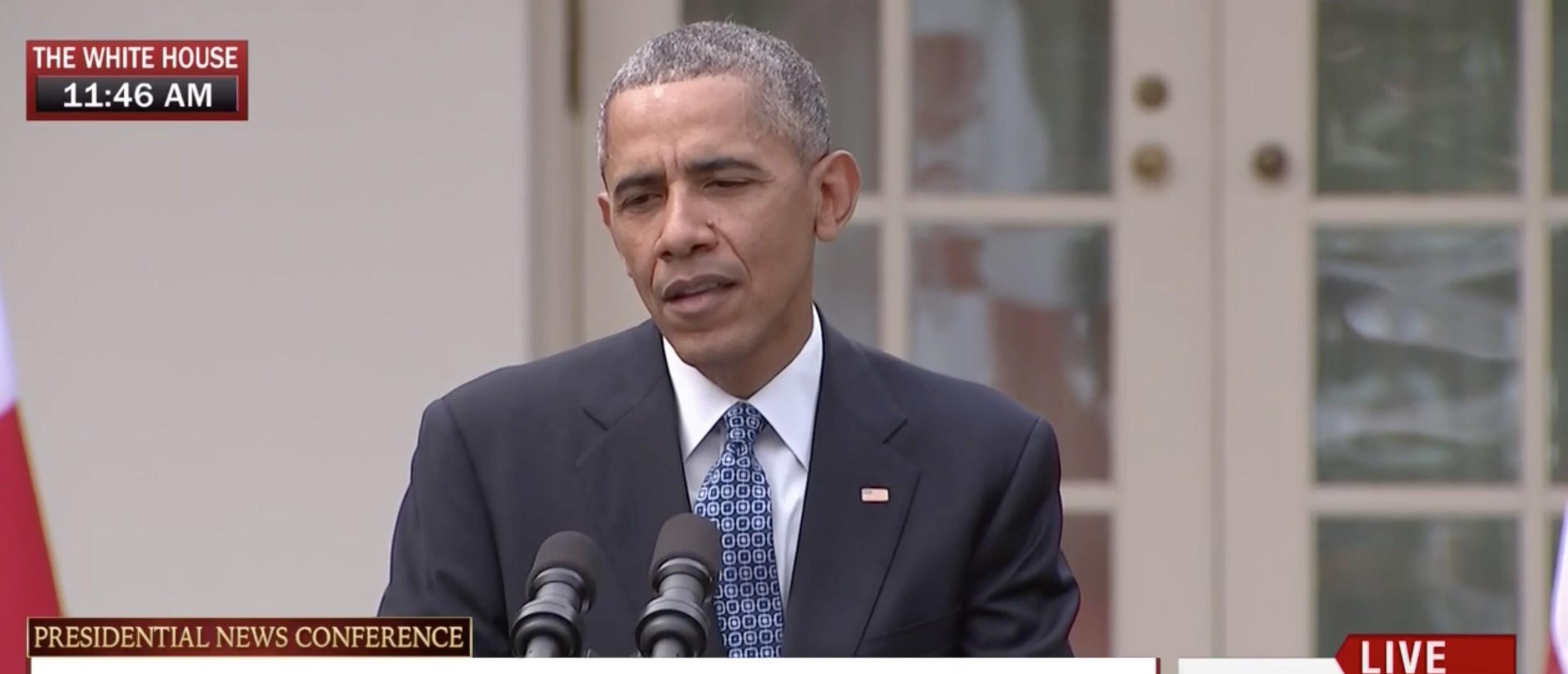 Barack Obama, Screen Shot MSNBC, 3-10-2016