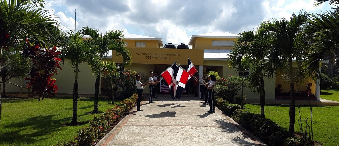 Entrance to health center on property of Cigar Family Foundation School, Bonao, D.R., March 16, 2016 - J.P. Carroll/The DCNF