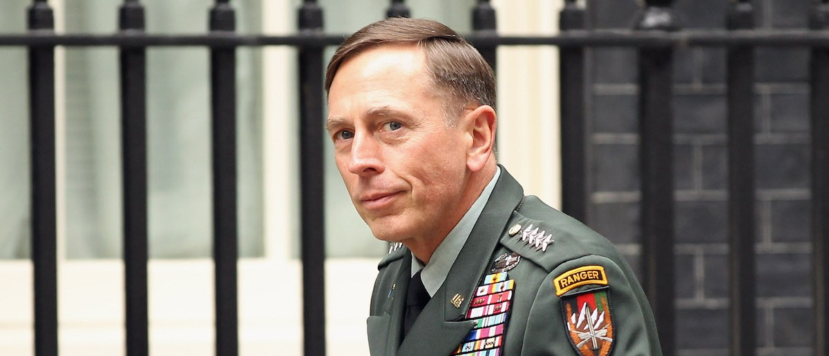 General Petraeus Attends A Meeting With Prime Minister David Cameron At Downing Street