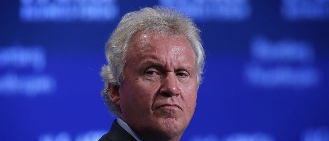 """CEO at General Electric Jeff Immelt participates in a session of the U.S.-Africa Business Forum on """"Expanding Opportunities: The New Era For Business In Africa,"""" during the U.S.-Africa Leaders Summit at the Mandarin Oriental Hotel August 5, 2014 in Washington, DC. The three-day-long summit is to strengthen ties between the United States and African nations.  (Photo by Alex Wong/Getty Images)"""