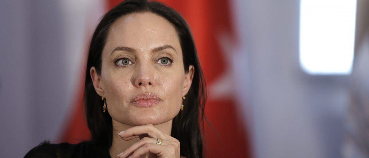 Angelina Jolie speaks about refugees (Photo: AFP/Getty Images)