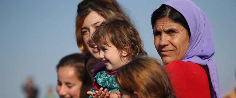 Yazidi Refugees In Syria Celebrate Liberation Of Sinjar From ISIL