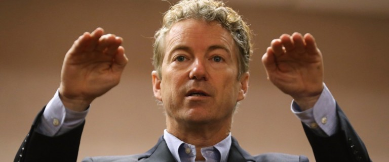 Republican Presidential Candidate Sen. Rand Paul (R-KY) Campaigns In Western Iowa