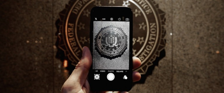 Apple Supporters Protest In Front Of FBI Headquarters In Washington DC