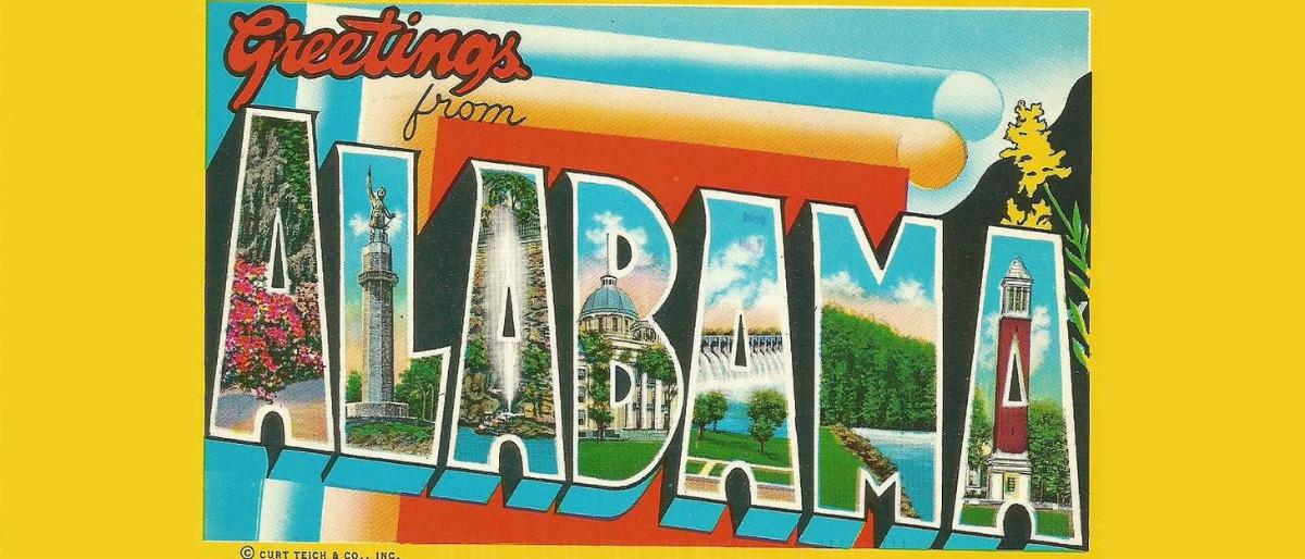 Greetings from Alabama postcard/Flickr/Creative Commons/Noe Alfaro