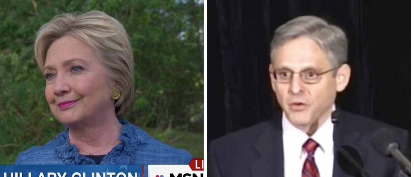 Hillary Clinton, Merrick Garland, Screen Shots MSNBC, 3-16-2016