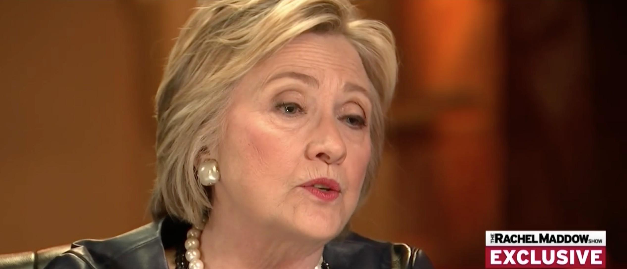 Hillary Clinton, Screen Shot MSNBC, 3-30-2016