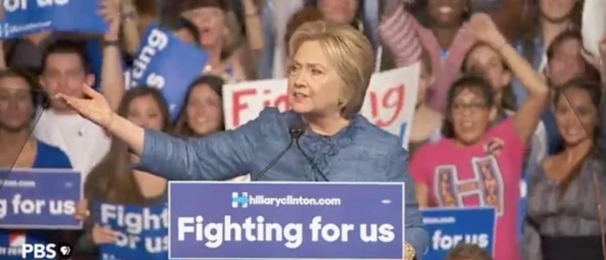 Hillary Clinton, Screen Shot PBS YouTube, 3-15-2016