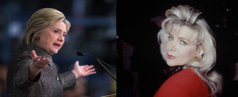 Hillary Clinton (Photo by Scott Olson/Getty Images)/Gennifer Flowers  (Photo by The LIFE Picture Collection/Getty Images)