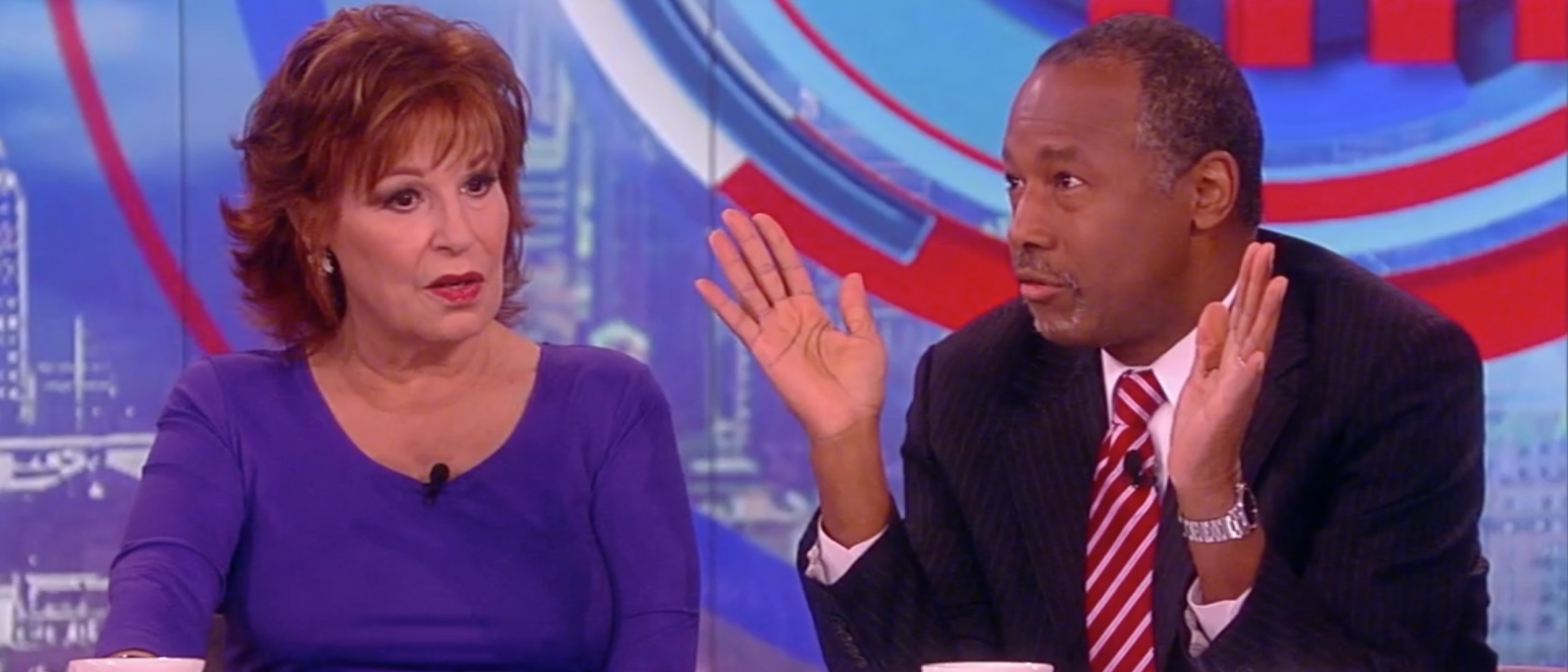 Joy Behar, Ben Carson, Screen Shot ABC, 3-24-2016