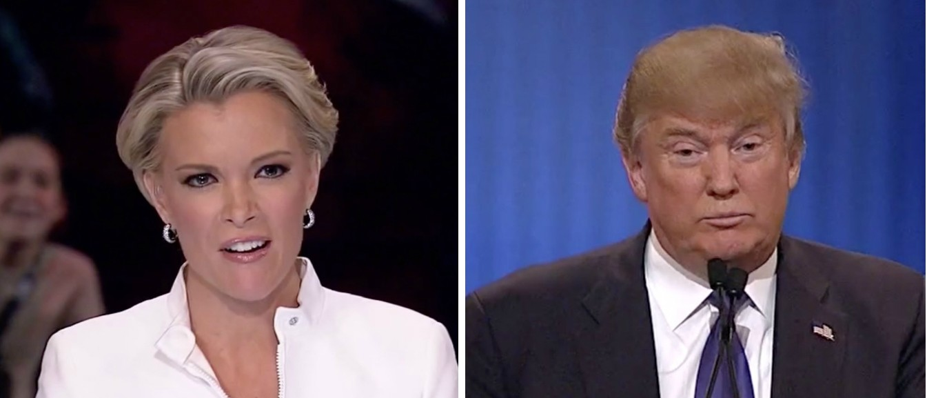Megyn Kelly, Donald Trump, images via Fox News Screen Shot 3-3-2016
