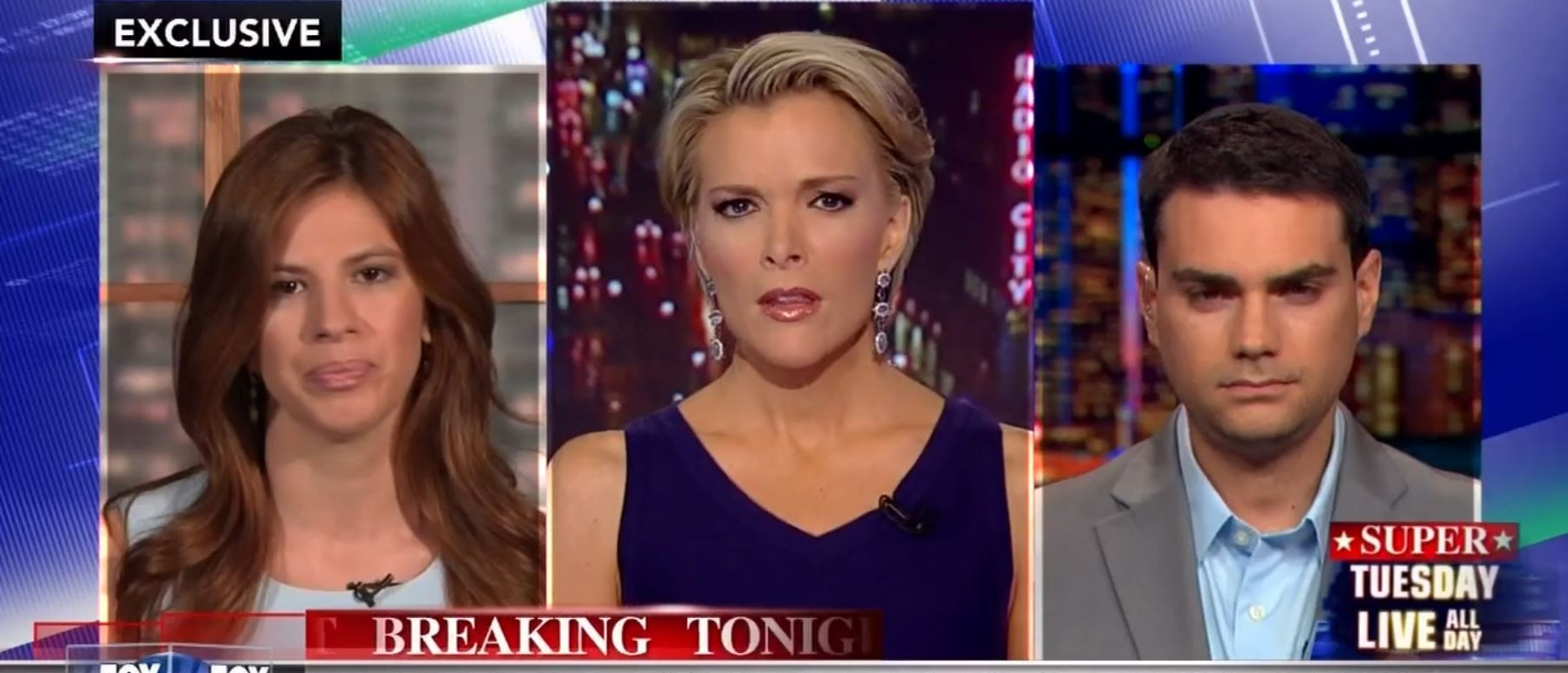 Michelle Fields, Ben Shapiro, Screen Shot Fox News Youtube, 3-14-2016
