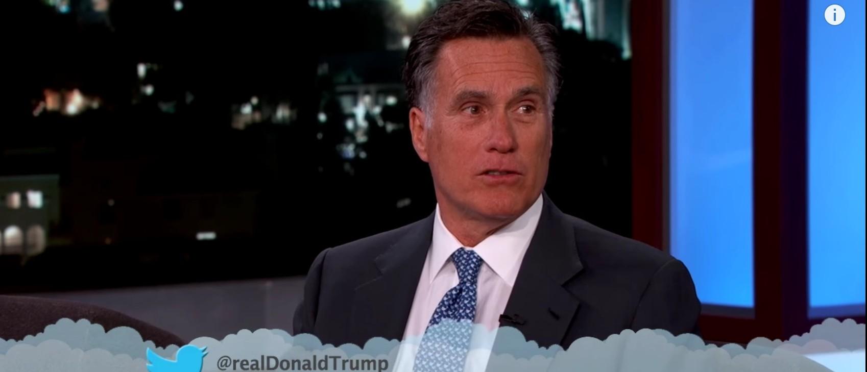 Mitt Romney, Screen Shot Jimmy Kimmel YouTube, 3-9-2016