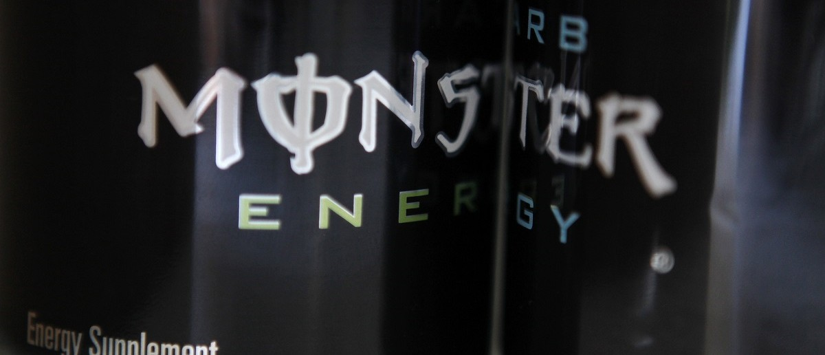 Two cans of Monster energy drink are shown in this photo illustration in Los Angeles October 23, 2012. The Food and Drug Administration said on October 22, 2012 that it was investigating reports of five deaths that may be associated with Monster Beverage Corp
