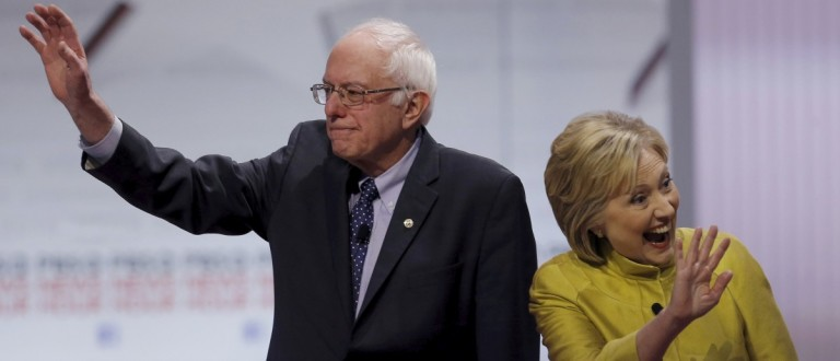 Bernie Sanders and Hillary Clinton (REUTERS/Jim Young)