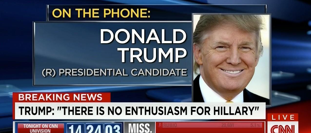 Trump: Michigan Results 'Show The People Don't Want' Hillary (screenshot: CNN)