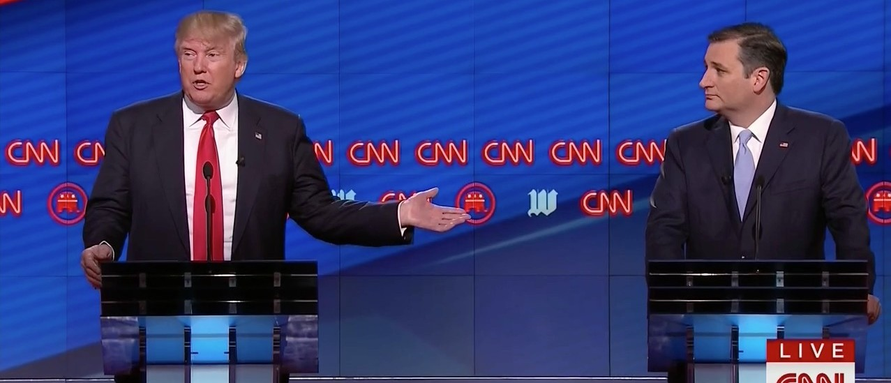Trump: 'We're All Having A Good Time ... That's Why I Draw Much Bigger Crows Than Ted' (CNN)