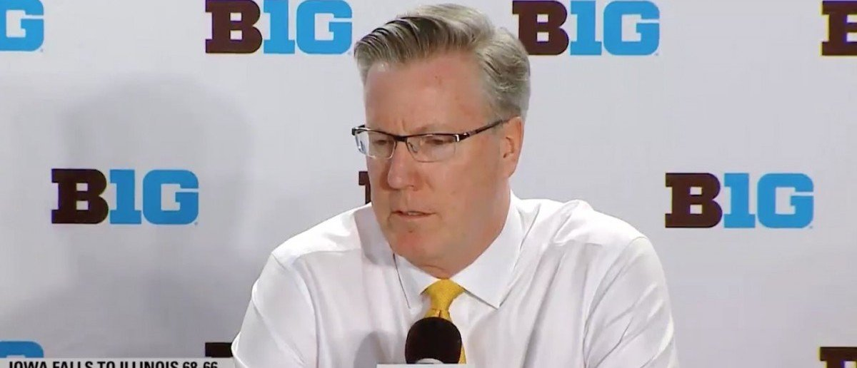 Fran McCaffery (Credit: Screenshot/Twitter video Clarkwade34)