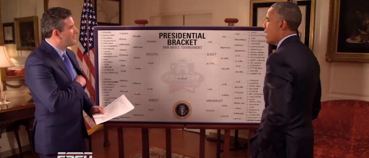 President Obama (Credit: Screenshot/ESPN Video)