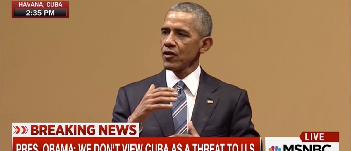 Obama: 'Hopefully, We Can Learn From' Cuba About Improving Human Rights In America (MSNBC)