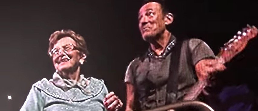 Springsteen's 90-Year-Old Mom Joins Him On Stage, Dances, Is The Real Boss (YouTube)