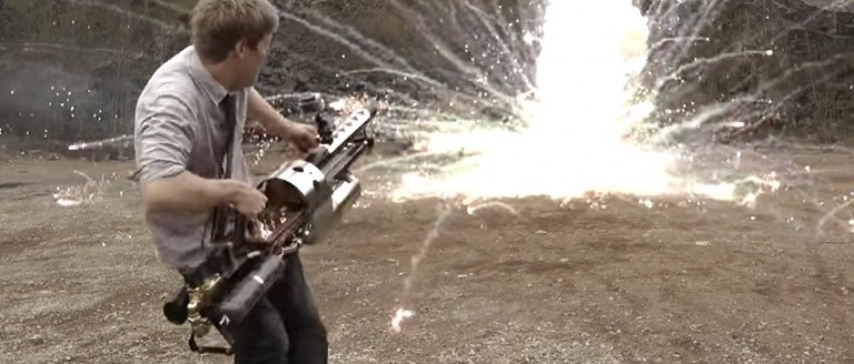 Yay Or Nay On This Mad Scientists' Homemade Thermite Grenade Launcher? (YouTube)