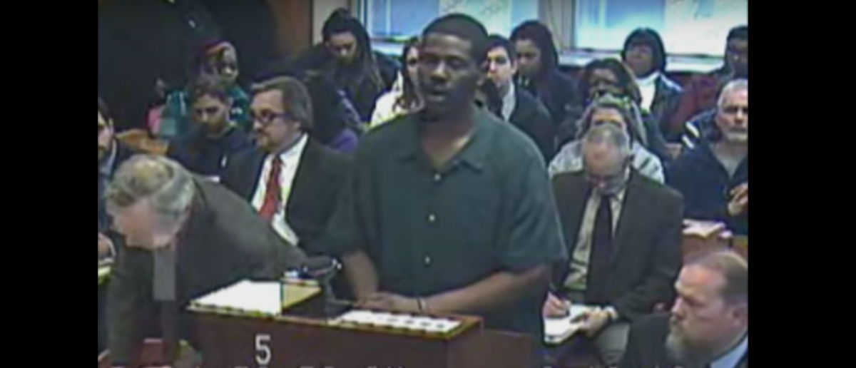 Brian Earl Taylor sings Adele song in courtroom. Screenshot, YouTube, MLive, Ann Arbor News