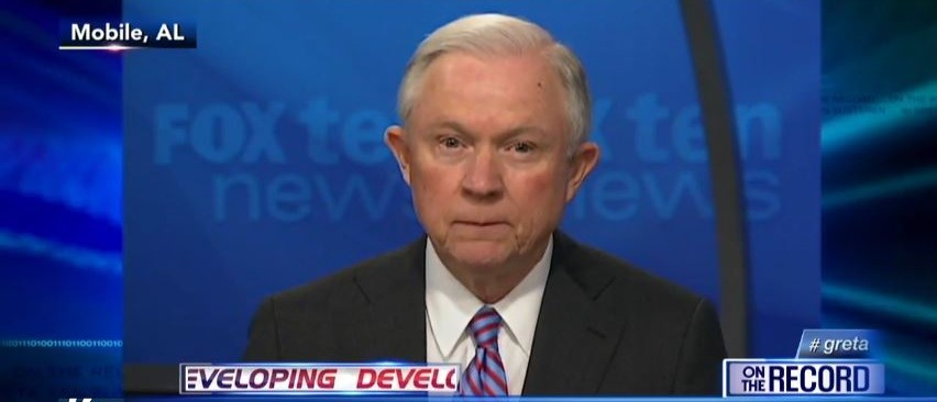 Sen. Jeff Sessions, Screen Shot Fox News YouTube, 3-24-2016