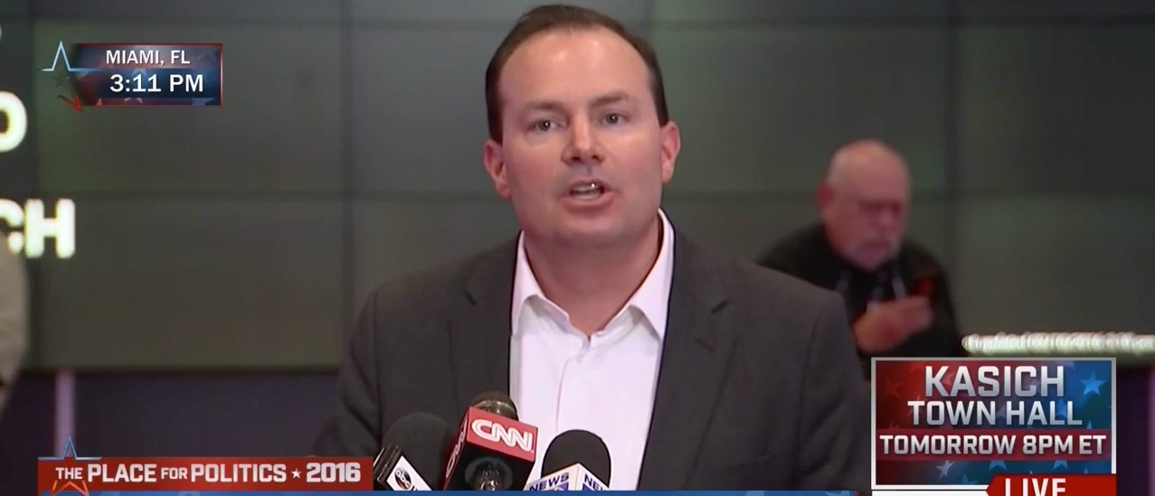Sen. Mike Lee Endorses Cruz (MSNBC)