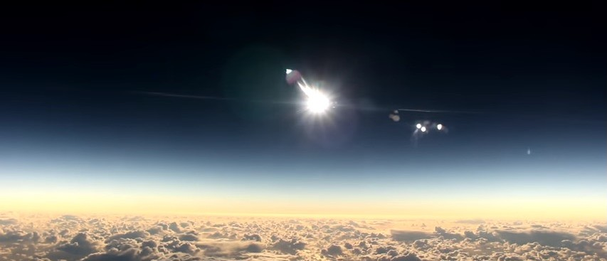 Watching A Solar Eclipse From An Airplane Probably Microwaved This Guy's Brain (YouTube)