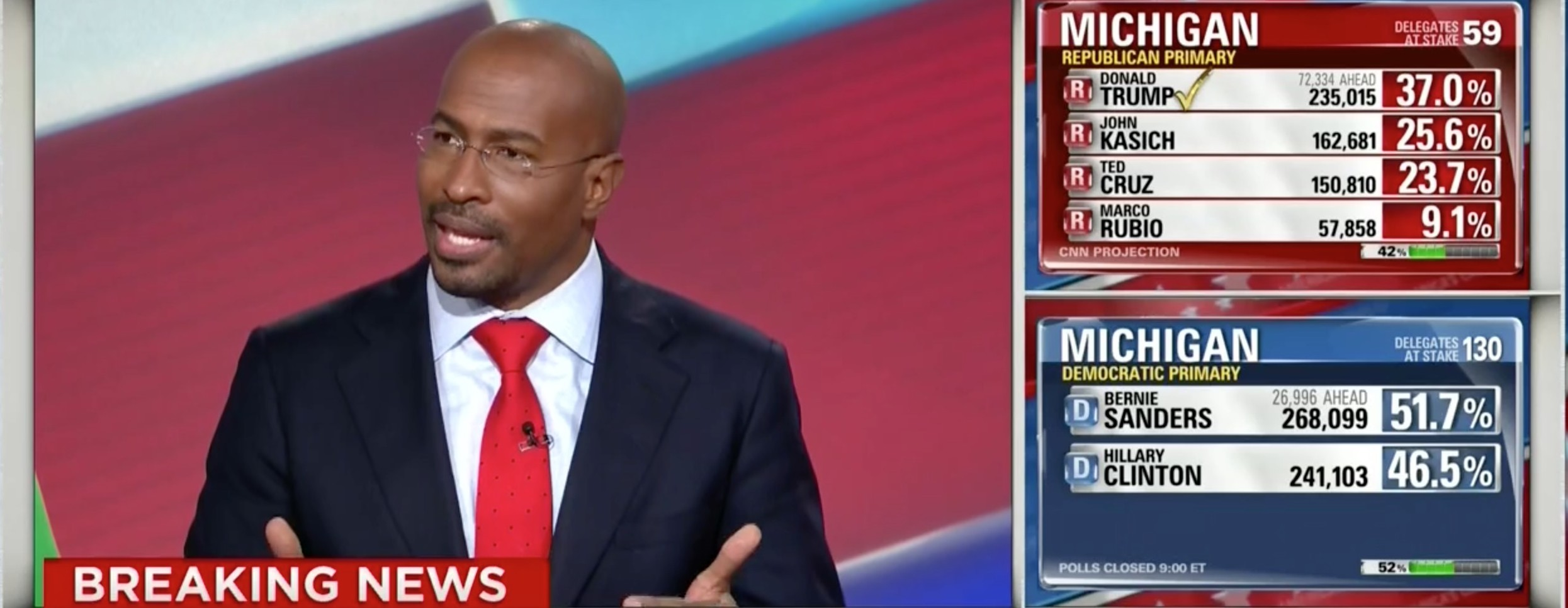 Van Jones, Screen Shot CNN, 3-8-2016