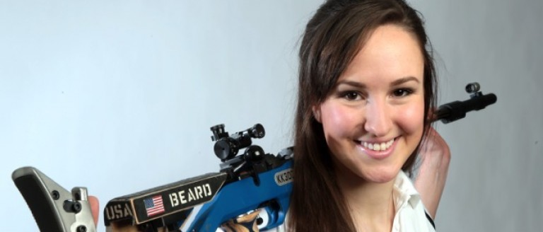 Sarah Beard competes in Women's 10m Air Rifle, Women's 50m Rifle Three Position. (USA Shooting photo)