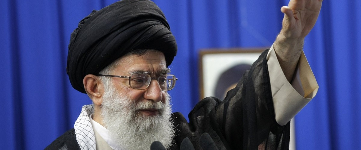 Iran's supreme leader Ayatollah Ali Khamenei gestures as he addresses the faithful at the weekly Muslim Friday prayers at Tehran University on June 19, 2009. Khamenei called for an end to street protests over last week's disputed presidential election, siding with declared winner Mahmoud Ahmadinejad, in his first public appearance after daily protests over the official results. Behrouz Mehri/ AFP/Getty Images.