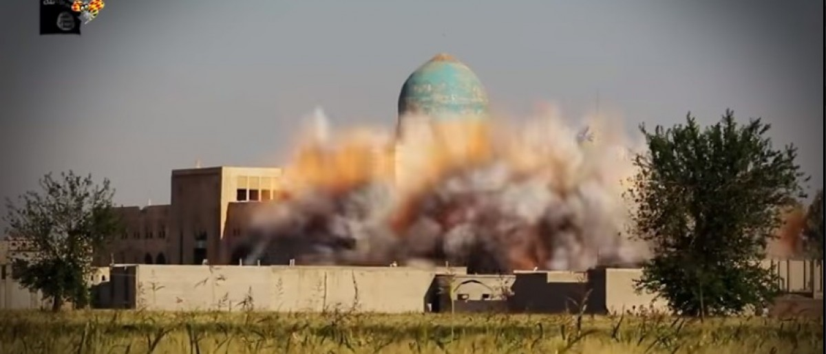 This is the Iras Nomani mosque being blown up. (Screengrab/ Youtube)