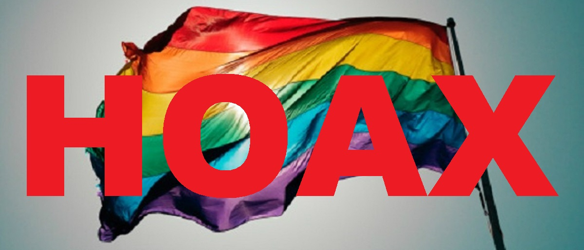 gay rainbow flag with hoax Getty Images