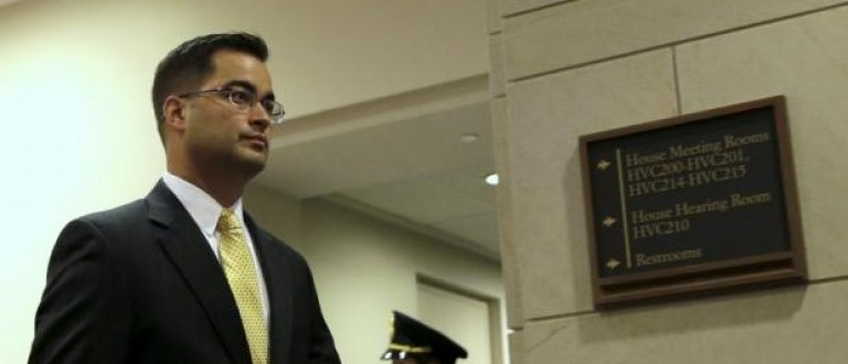 Former State Department staffer Bryan Pagliano arrives for a closed hearing on Capitol Hill in Washington