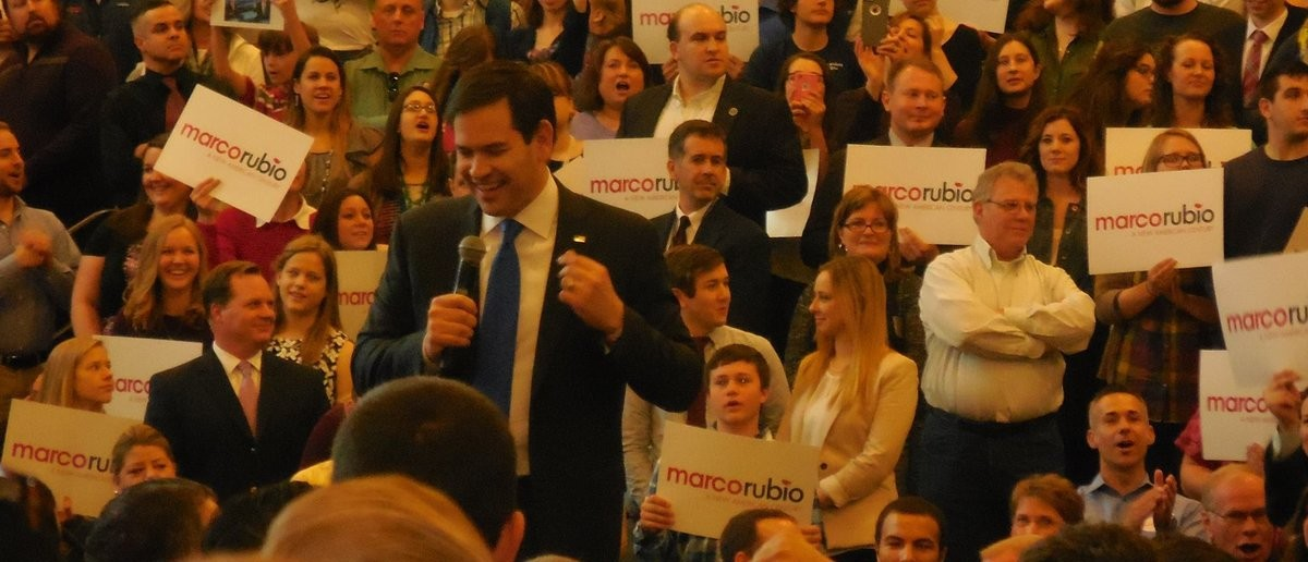 Florida Senator and candidate for the Republican presidential nomination Marco Rubio at a rally in Loudon County, Virginia. (Photo Taken by Andrew Follett/Daily Caller)