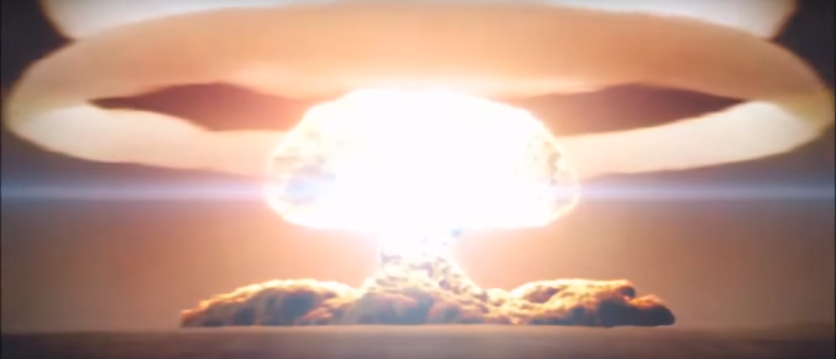 The Tsar bomb, the most powerful nuclear weapon ever, is detonated. (YouTube/Screenshot)